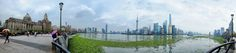 Panorama shot that I got at The Bund in Shanghai, China. From here, you can get great view of the amazing buildings in Pudong, including the Oriental Pearl Tower and Shanghai Tower.