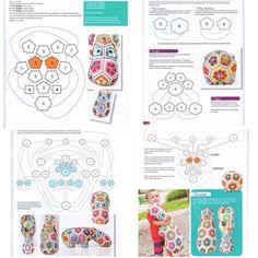 awesome The Happy Hippo Crochet African Flower Free Pattern - Crochet Craft, Crochet Hippopotamus, Pink Bow Freeform Crochet, Crochet Motif, Diy Crochet, Crochet Crafts, Crochet Dolls, Yarn Crafts, Crochet Projects, Quick Crochet Patterns, Granny Square Crochet Pattern