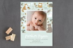 sweet forest friends Birth Announcements by peetie... | Minted