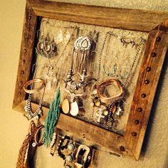 DIY western jewelry holder.