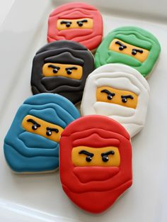 Ninjago Cookies by Sugarbelle. If they could only make Chima, too!