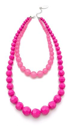 Adia Kibur Layered Beads Necklace #PoppinPink
