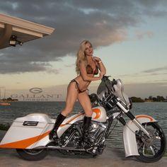 m Melissa Lane Biker Chic, Hot Bikes, Biker Girl, Hot Wheels, Martial Arts, Harley Davidson, Photoshoot, Bikinis, Custom Baggers