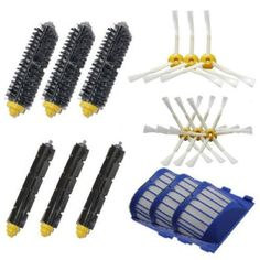 19.74$ (More info here: http://www.daitingtoday.com/high-quality-bristle-and-flexible-beater-and-armed-brush-aero-vac-filters-kit-for-irobot-roomba-600-series-620-630-650-660 ) High Quality Bristle & Flexible Beater & Armed Brush Aero Vac Filters kit for iRobot Roomba 600 Series 620 630 650 660 for just 19.74$