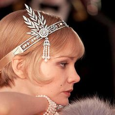 Great Gatsby headpiece forehead band 1920s flapper by IlovelyCraft