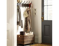 Pottery Barn Small Spaces entryway