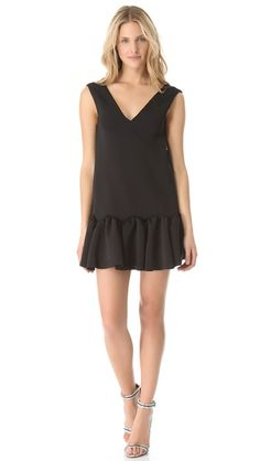 Not sure about the hem, but cute spin on a LBD - Three Floor Flare Neoprene Dress