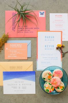 coral wedding invitations | Wedding & Party Ideas | 100 Layer Cake