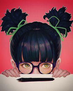 "Polubienia: 9,155, komentarze: 20 – Magion ZeroTwo (@magion02) na Instagramie: ""✒Stylus. #美少女 #メガネっ娘 #漫画 #manga #ツインテール #twintail #beautiful #cute #fashion #bishoujo #drawing…"""