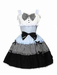 M4U Womens Multi Color Cotton Bow Cute Lolita Jumper Skirt M4U Online Shopping to see or buy click on Amazon here http://www.amazon.com/dp/B00JQZYRAO/ref=cm_sw_r_pi_dp_7A-Ltb0JYZTW5HW8