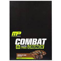Muscle Pharm, Hybrid Series, Combat Crunch, Chocolate Cake, 12 Bars, 2.22 oz (63 g) Each