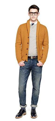 J.Crew Fall/Holiday 2013 Lookbook - The rust orange cardi tho...