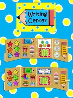 Individual writing centers for students to use in the classroom, or at home! Over 10 mini-posters for the student center. PLUS 12 classroom posters for a writing center! $ #writingcenter