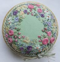 Wonderful Ribbon Embroidery Flowers by Hand Ideas. Enchanting Ribbon Embroidery Flowers by Hand Ideas. Embroidery Designs, Embroidery Patterns, Silk Ribbon Embroidery, Crewel Embroidery, Japanese Embroidery, Floral Embroidery, Embroidery For Beginners, Spring Green, Green Cotton