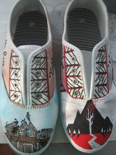 Pierce the veil/ sleeping with sirens shoes
