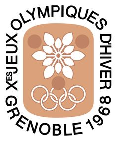 Logo of the 1968 Winter Olympic Games - Grenoble, France