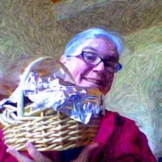 The breakfast basket I received every morning at my writer's retreat - fun!