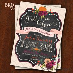 I LOVE THIS INVITE!!!!!!!! =D HEHE!!!!!! $15 for the printable. Hey, I found this really awesome Etsy listing at https://www.etsy.com/listing/198433373/fall-bridal-shower-invitation-autumn