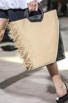 3 1 Phillip Lim, Spring / Summer New York, Womenswear My Bags, Purses And Bags, Phillip Lim Bag, Sacs Design, Ethno Style, Ethnic Bag, Straw Handbags, Summer Bags, Spring Summer
