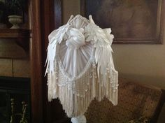 SALE Victorian Lampshade Shabby Lampshade Romantic Lampshade by ShadyLadyCreationsCo on Etsy