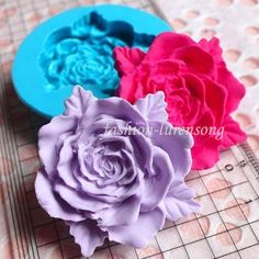 3D Rose Flower Fondant Cake Sugarcraft Mold Candy Chocolate Silicone Mould Tools