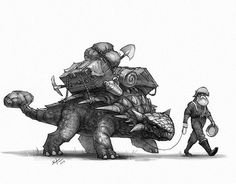 "Ankylosaurus makes a great pack ""mule"""