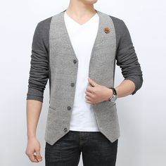 Find More Jackets Information about 2015 Quality Spring Mens Jacket Fashion V neck Vest style Mens Jackets and Coats Casual Cotton Outdoors Men's Clothing Retails,High Quality clothing,China clothing men Suppliers, Cheap jacket spikes from E-Express on Aliexpress.com