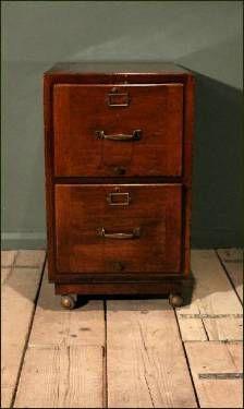 Unique Wood Pedestal File Cabinet