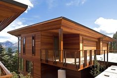casas de madeira com arquitetura moderna