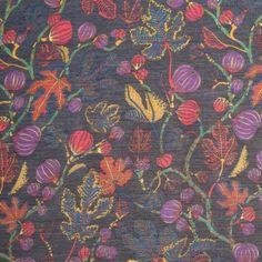 Liberty of London Alma Blue/Yellow/Purple/Pink Silk-Cotton Voile Fabric by the Yard | Mood Fabrics