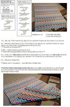 Reversable Heart / Chevron Blanket Stitchy OMG!: