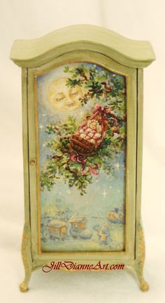 Painted Rock-a-bye-baby petite armoire by JillDianne
