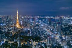 東京の夜景です。