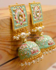 Image may contain: 1 person Image may contain: 1 person Indian Jewelry Earrings, Indian Jewelry Sets, Jewelry Design Earrings, Indian Wedding Jewelry, India Jewelry, Ear Jewelry, Ethnic Jewelry, Jewelry Gifts, Designer Earrings