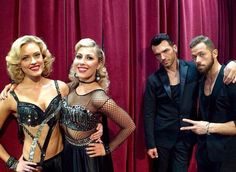Peta,Emma,Tony and Artem backstage, DWTS 10th Anniversary. 4/28/2015