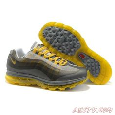 innovative design eb53e 45674 Nike Air Max 95 360 Blanc Jaune Gris Neutre Air Max Femme Yellow Shoes, Grey