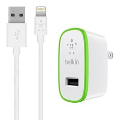 Belkin Boost Up Home Charger with 4Foot Lightning to USB ChargeSync Cable White 12 Watt  24 Amp -- See this great product by click affiliate link Amazon.com