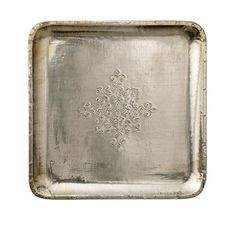 Bloomingville Square Wood Tray with Antique Silver Finish Silver Trays, Wood Tray, Deco, Discount Designer, Antique Silver, Branding Design, Eye Candy, Objects, Antiques