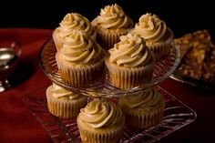 Spiced Apple Cupcakes with Caramel Frosting