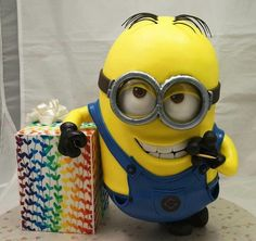 Minion Dave Cake made by My Sweet Obsession Geek Birthday, Superhero Birthday Cake, Cupcake Birthday Cake, Star Wars Birthday, Lego Cake, Minecraft Cake, Minecraft Houses, Cake Designs For Boy, Despicable Me Cake