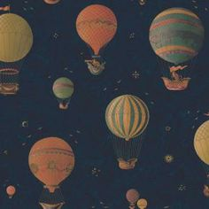 wallpaper--The Wallpaper Company 56 sq. ft. Earth Tone Flying Helium Balloons Wallpaper WC1282757 at The Home Depot