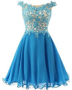 FNKS Women's Straps Lace Bodice Short Prom Gown Homecoming Party Dress