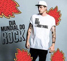 Camiseta SEX, DOGS & ROCK'N ROLL. Dia do Rock - Rock Day