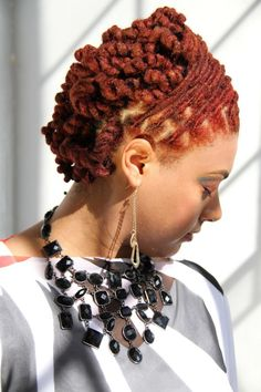 Red Loc style by Luv Mi Kinks…l love red but a pain in the ass color to maintain