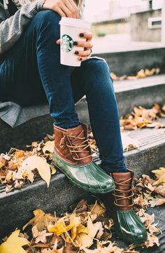 skinnies + Starbucks + duck boots