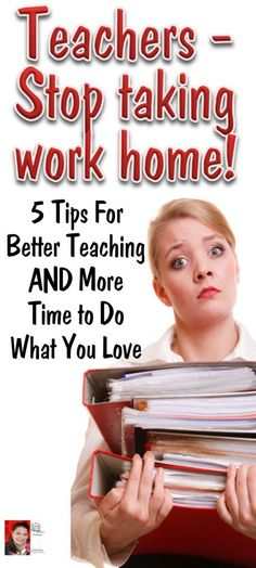 Leave the grading and prep at school and save time for yourself!