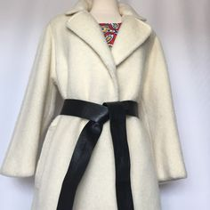 "Final price Wrap Coat size 8-10 Woolen,,lightweight,no damage no stain or discoloration ,beautiful wrap style coat without buttons Off white color. )Length of coat  41"". Length of sleeves 27"" from neck line (collar) Jackets & Coats"
