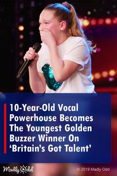 Vocal Powerhouse Becomes The Youngest Golden Buzzer Winner On 'Britain's Got Talent' America's Got Talent Videos, Britain's Got Talent, Talent Show, Junior Eurovision, Eurovision Songs, Bgt Auditions, Voice Auditions, Child Singers, Music Songs
