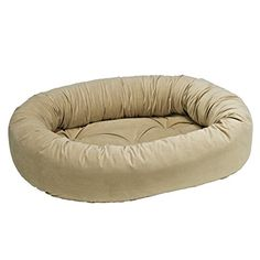 Donut Bed in Almond Fabric (Medium: 35 x 27 x 8 in.) -- Find out more details by clicking the image : dog beds