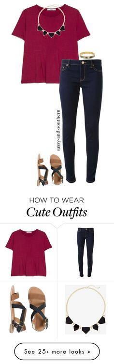 """cute school outfit"" by sassy-and-southern on Polyvore featuring MANGO, Express, Michael Kors, IPANEMA, Kate Spade and sassysouthernfall"